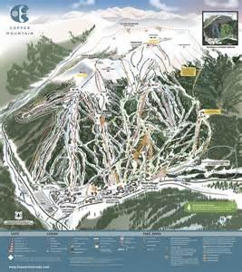 colorado ski report map copper mountain resort trail map
