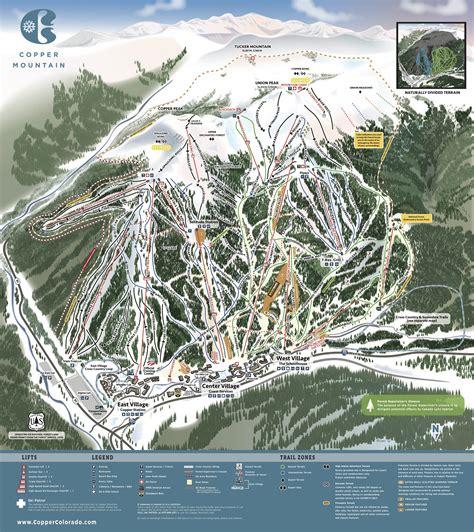 copper trail map copper mountain resort trail map