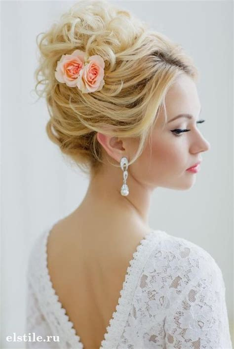 Wedding Hairstyles No Curls by Cinderella Hair Updo And Hair Flowers On