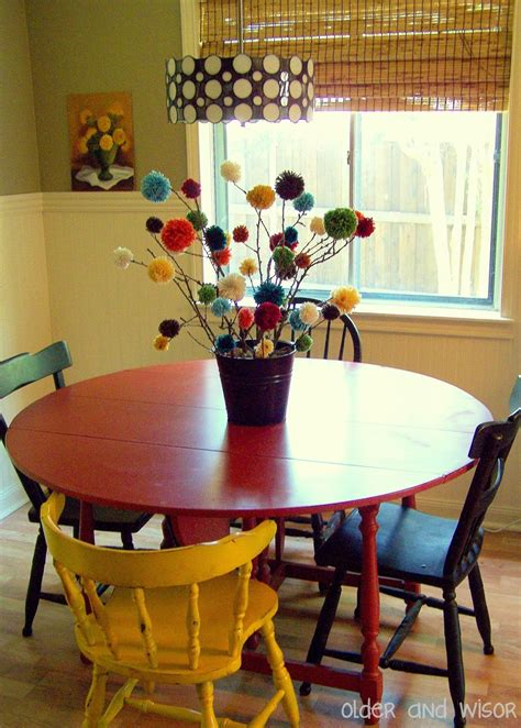 kitchen table centerpieces ideas older and wisor quot pom quot trees a free centerpiece idea