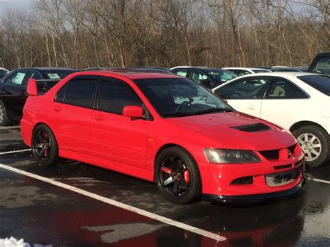 mitsubishi evo 8 red fs northeast ny 2003 rally red evo 8