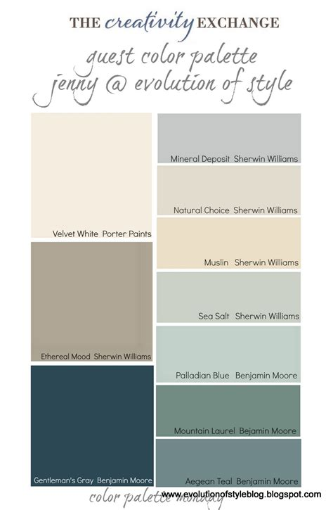 house color palette paint palette for home home painting ideas