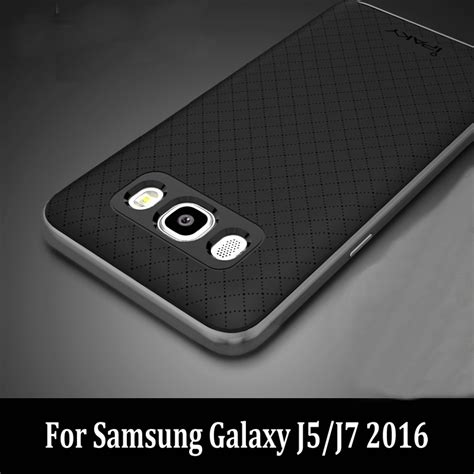 Back Cover Casing Armor Bumper Ipaky Samsung Galaxy J7 2017 ipaky for samsung galaxy j5 2016 armor soft silicone back cover pc frame hybrid 2in1 phone