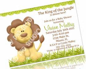 king of the jungle baby shower invitation printable digital