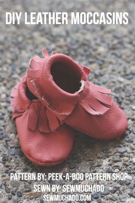 diy leather baby moccasins baby leather moccasins pattern by peekaboo patternshop