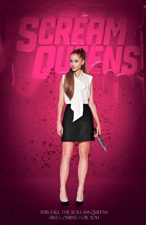 film queen concerto ariana grande scream queens poster ariana grande
