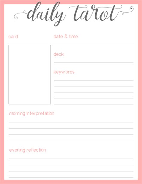 tarot journal template but i think it turned out