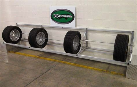 Tire Rack For Trailer by Pit Products 9 Ft Deluxe Universal Tire Rack