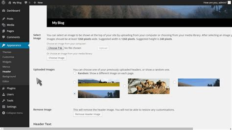 wordpress tutorial edit home page how to change your header in wordpress fastwebhost