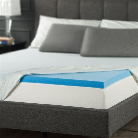 Cooling Gel Mattress Topper Size by Best Cooling Gel Memory Foam Topper Mattress Size Bedding Feather Pad 2 In Ebay