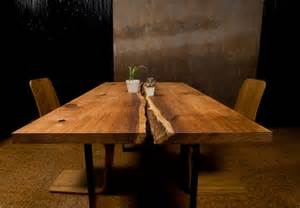Wood slab dining table home design ideas