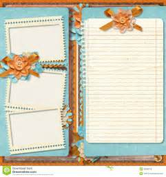 Free Digital Scrapbook Pages Templates by Retro Family Album 365 Project Scrapbooking Templates