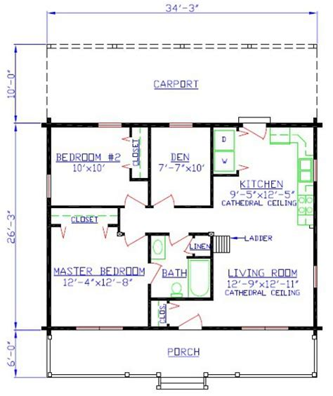 mountain series cabin floorplan 9