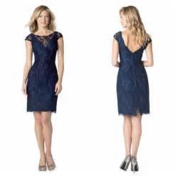 navy blue lace sheath bridemsaid dresses 2016 custom