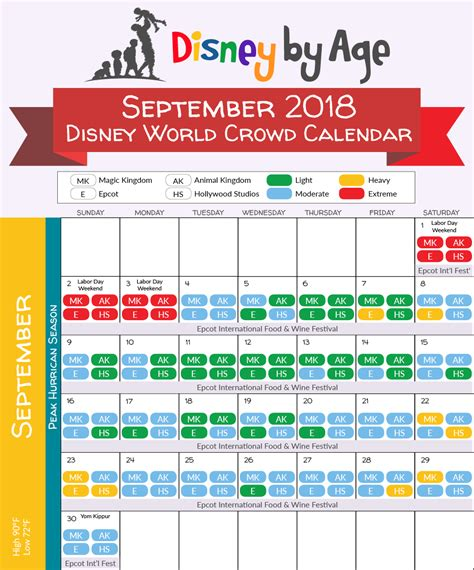 printable calendar 2018 disney disney world crowd calendar 2018 and 2019