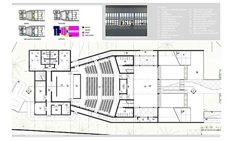 cultural center floor plan nassau community cultural center randy seraphin archinect