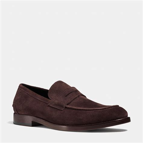 mens coach loafers coach allen loafer in brown for lyst