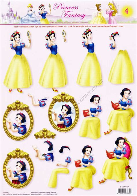 Disney Decoupage - snow white disney princess 3d decoupage sheet