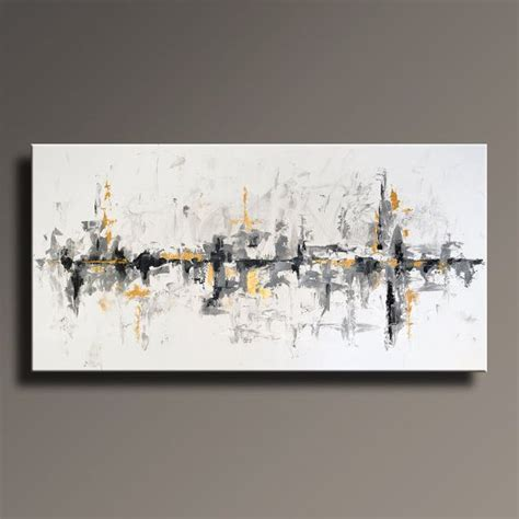 black and grey wall decor 75 quot large original abstract black white gray gold painting