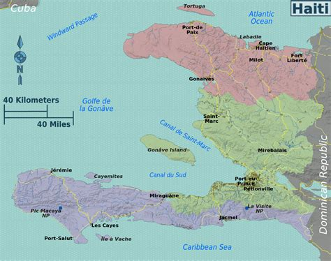 map  haiti overview mapregions worldofmapsnet  maps  travel information