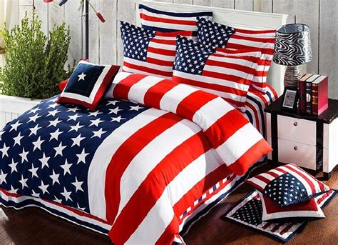 american bedding american flag bedding set striped duvet cover bed sheets