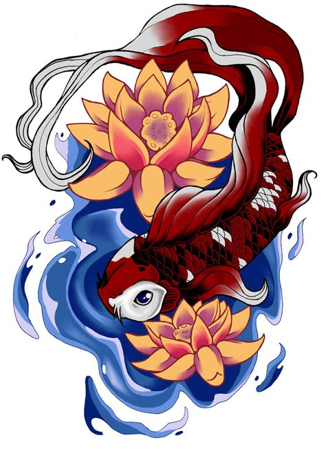 feminine koi fish tattoo designs koi design by darklightartist on deviantart
