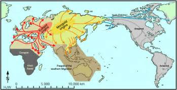 map of america 10000 years ago human migrations the last 100 000 years abagond