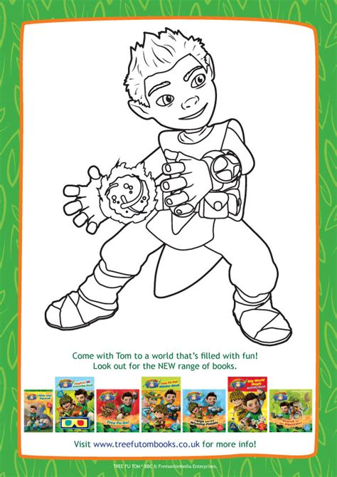 coloring pages tree fu tom tree fu tom colouring scholastic kids club