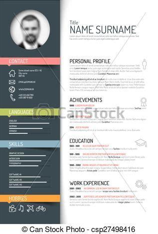 Sample Graphic Design Resumes by Clip Art Vecteur De Reprendre Cv Gabarit Vecteur