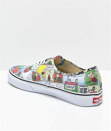 Original Vans Mn Skool Ii Back Peanuts Sneakers vans x peanuts authentic comics skate shoes zumiez