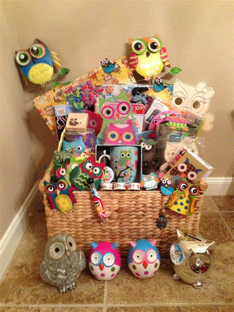 themed gift basket ideas for auction owl things are possible gift basket for silent auction