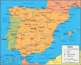 Map If Spain by Spain Map And Satellite Image
