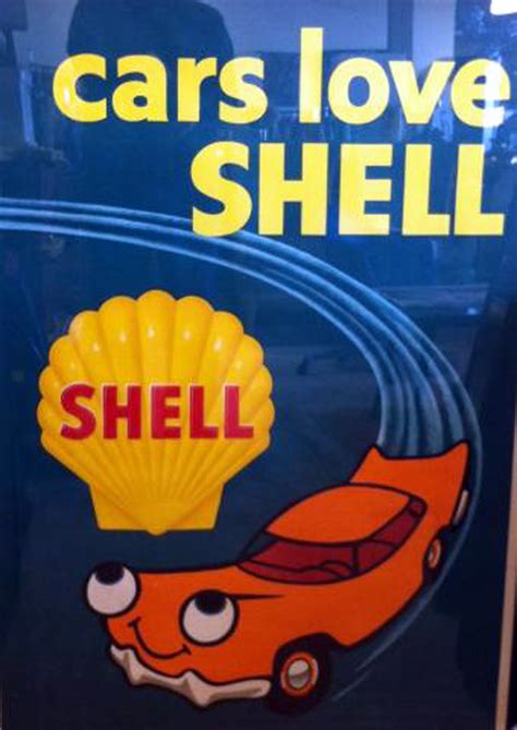 rare  vintage shell oil advertising poster newly