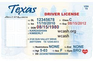 template texas new drivers license editable photoshop file