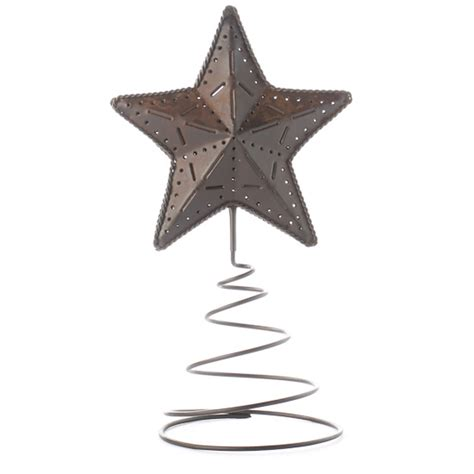 primitive rusty tin star tree topper christmas trees and