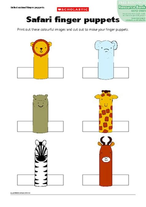 finger puppets templates search results for animal finger puppets template
