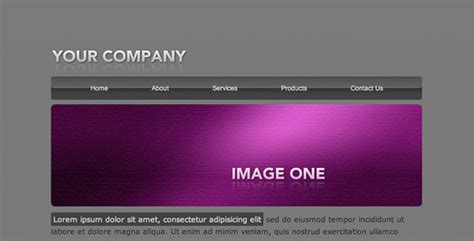Flash Header Template 01 Html Others Themeforest Html Header Template