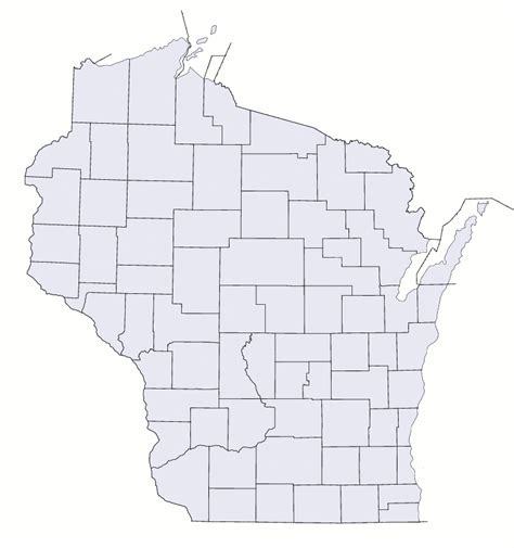 map of wisconsin counties file wisconsin counties blank map png