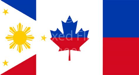 Mixed Philippines And Canada Flag T Shirt Designs Philippines Canada Flag