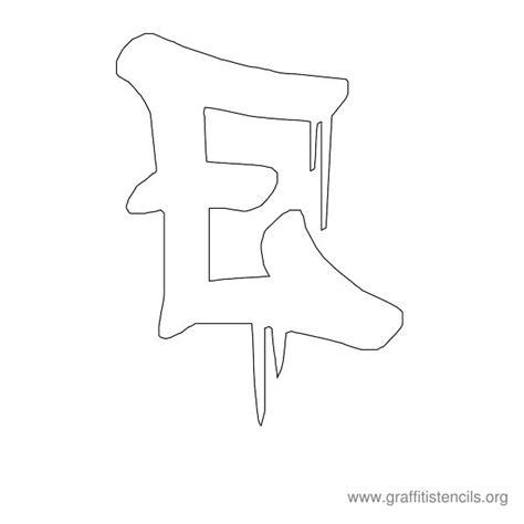 dripping urban graffiti stencil letters uppercase