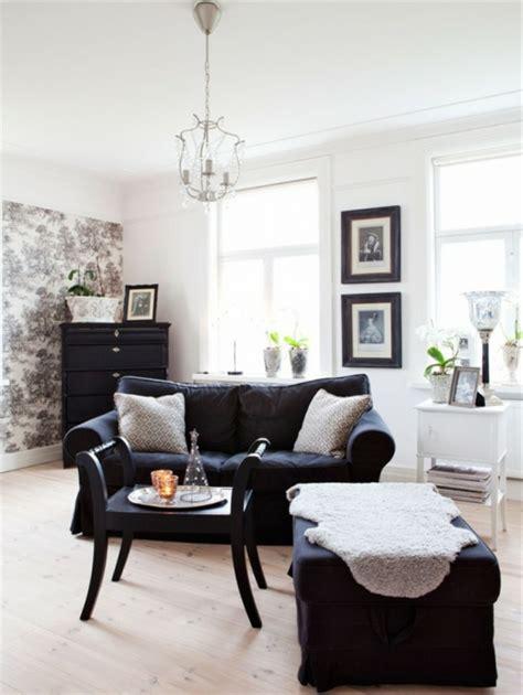 wandfarbe wohnzimmer dunkle möbel vintage einrichtung einrichtungsideen im retro stil