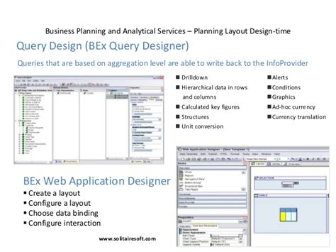 query layout design sap sap bw bi
