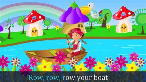 youtube row the boat row row row your boat nursery rhyme hd with lyrics by