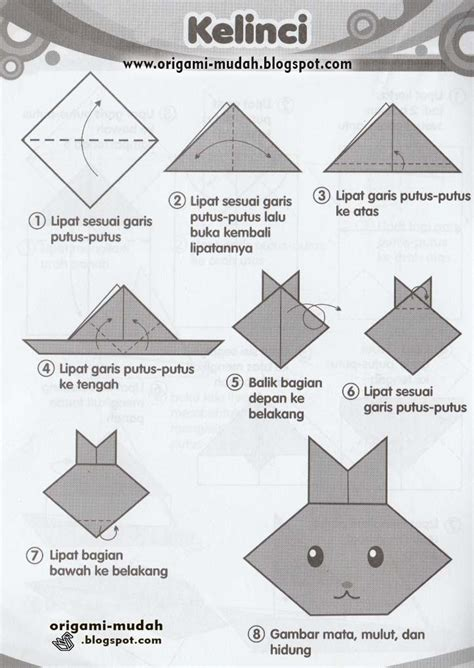 membuat origami yg mudah cara mudah membuat origami kelinci
