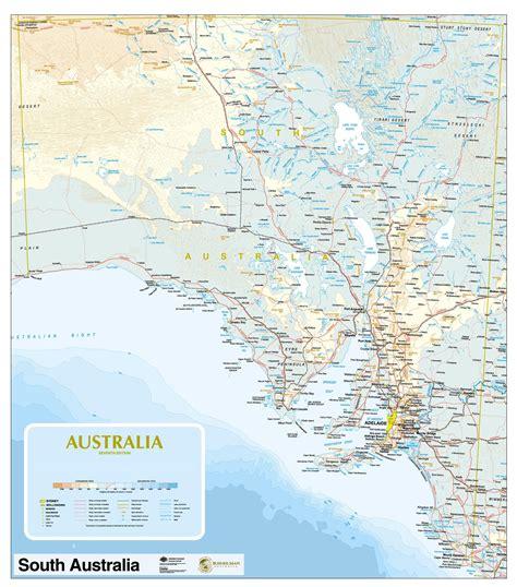 south australia map businessmapsaustralia custom political state map of