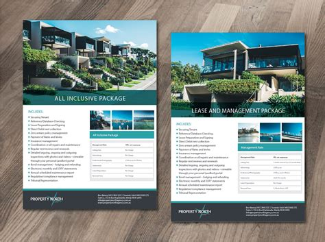 flyer design pdf upmarket serious flyer design for property north agency