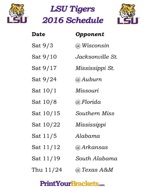 Printable Lsu Schedule 2015   2015 super bowl 50 party squares search results