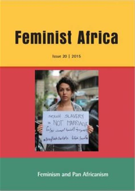 Lit Is A Feminist Issue by Literature Feminist Africa 20 2015 Pan Africanism And