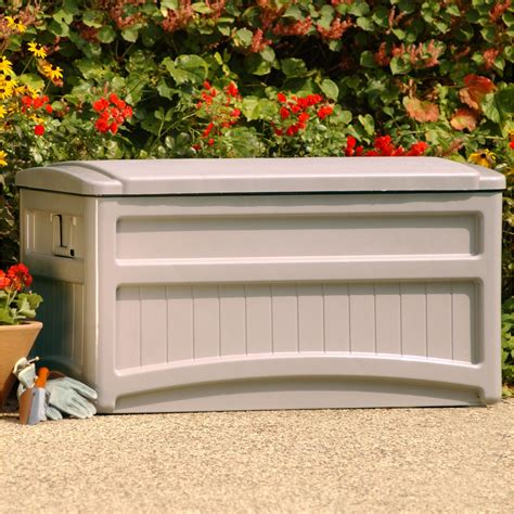 suncast outdoor storage box w wheels