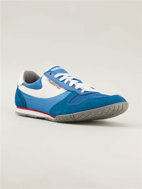 spin sneakers lyst diesel spin sneakers in blue for